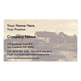 A Farm On The Waterfront by Johan Weissenbruch Double-Sided Standard Business Cards (Pack Of 100)