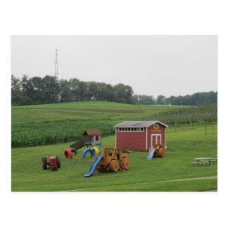 A Farm Playground Postcard