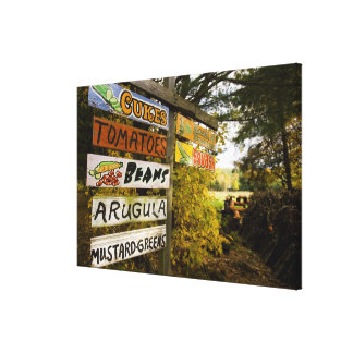 A farm stand in Holderness, New Hampshire. Canvas Print