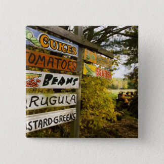 A farm stand in Holderness, New Hampshire. Pinback Button