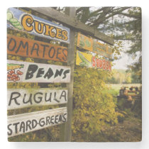 A farm stand in Holderness, New Hampshire. Stone Coaster