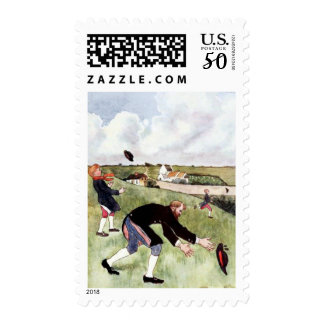 A Farmer and his Boys Postage