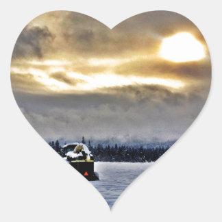 A Farmers Day Off Heart Sticker