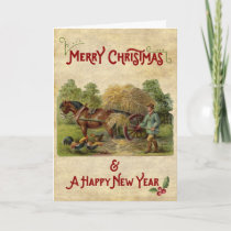 A farmer's life Christmas & New Year Card