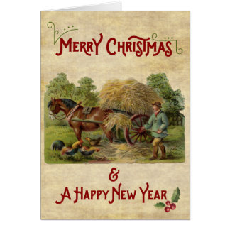 A farmer's life Christmas & New Year Card