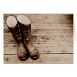 A Farmer's Muddy Rubber Boots Cards