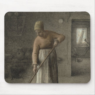 A Farmer's wife sweeping, 1867 Mouse Pad