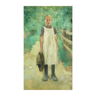 A Farmgirl, 1895 Canvas Print