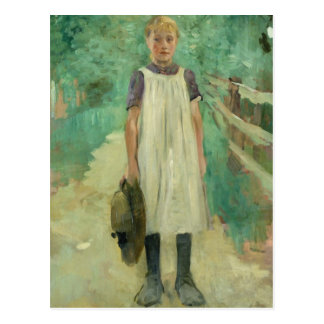 A Farmgirl, 1895 Postcard