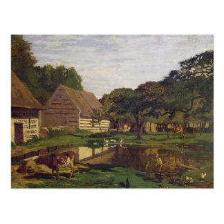 A Farmyard in Normandy, c.1863 Postcard