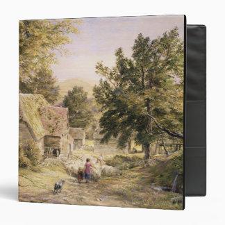 A Farmyard near Princes Risborough, 1845/6 (w/c on Binder