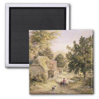 A Farmyard near Princes Risborough, 1845/6 (w/c on Magnet