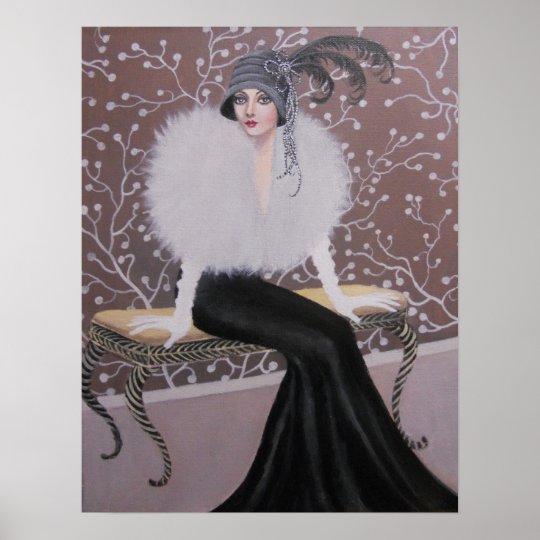 A Fashionable Art Deco Lady Poster Zazzle Com