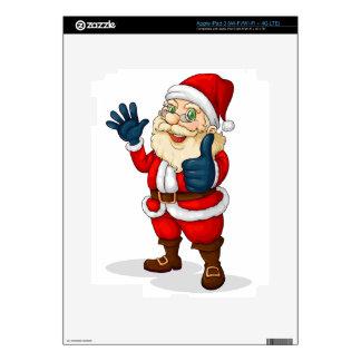 A fat Santa Claus iPad 3 Decals