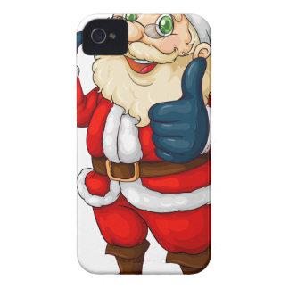 A fat Santa Claus iPhone 4 Case