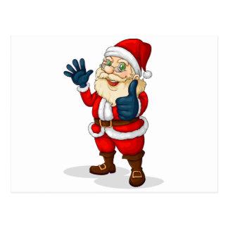 A fat Santa Claus Postcard