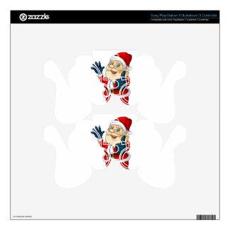 A fat Santa Claus PS3 Controller Skin