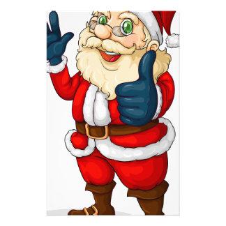 A fat Santa Claus Stationery