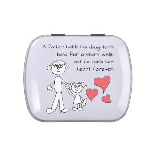 A Father Holds His Daughter's Hand Jelly Belly Candy Tin