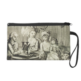 A Father Reading to his Family by Candlelight, eng Wristlet