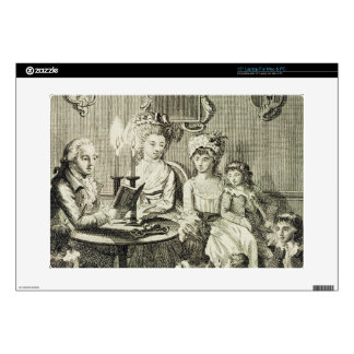 """A Father Reading to his Family by Candlelight, eng Decal For 15"""" Laptop"""