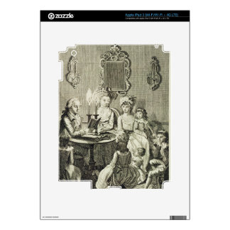 A Father Reading to his Family by Candlelight, eng iPad 3 Skins