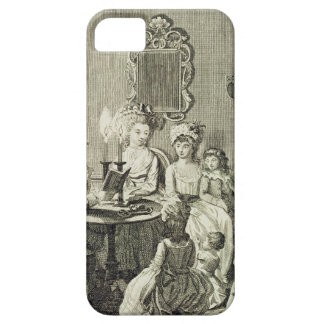 A Father Reading to his Family by Candlelight, eng iPhone SE/5/5s Case