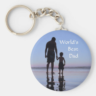A Father's Hand Basic Round Button Keychain