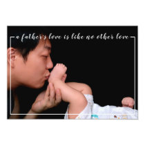 A Father's Love Modern Personal Father's Day Photo Card