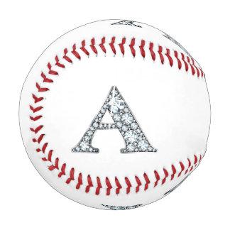 "A Faux-""Diamond"" Monogram Baseball"