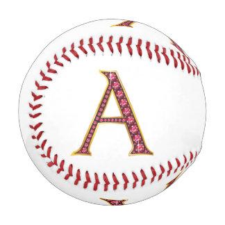 "A Faux-""Ruby"" Monogram Baseball"