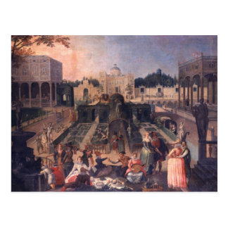 A Feast in the park of the Duke of Mantua Postcard