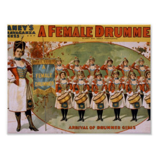 A Female Drummer, 'Arrival of drummer Girls' Poster