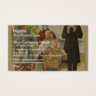 A Female Drummer Business Card