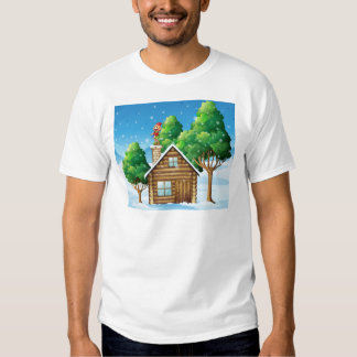 A female elf standing above the house T-Shirt