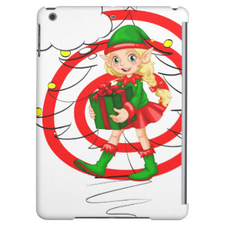 A female Santa elf