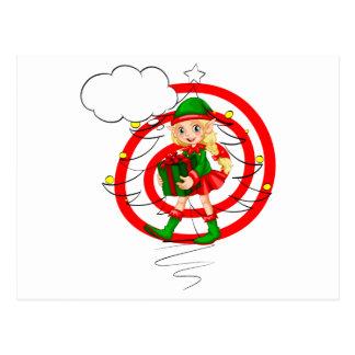 A female Santa elf Postcard