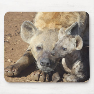 A female Spotted Hyena and her cub, Kruger Mouse Pad