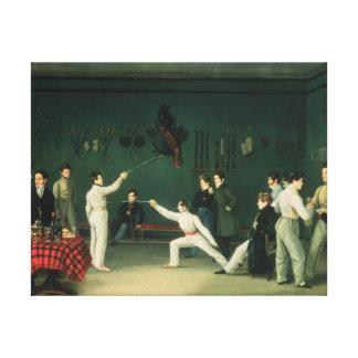 A Fencing Scene, 1827 Canvas Print