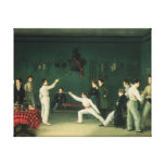 A Fencing Scene, 1827 Canvas Print