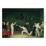 A Fencing Scene, 1827 Card