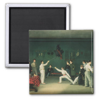 A Fencing Scene, 1827 2 Inch Square Magnet