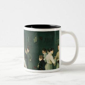 A Fencing Scene, 1827 Two-Tone Coffee Mug