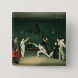 A Fencing Scene, 1827 Pinback Button