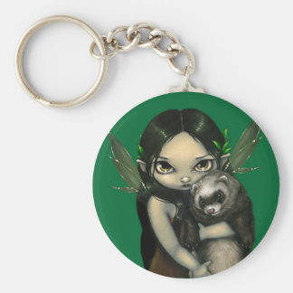 """A Ferret and His Fairy"" Keychain"