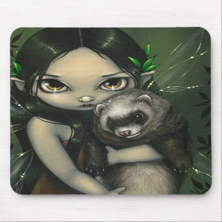"""A Ferret and His Fairy"" Mousepad"