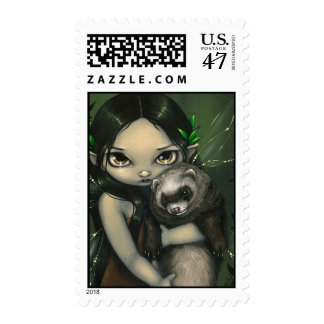 """""""A Ferret and His Fairy"""" Stamp"""