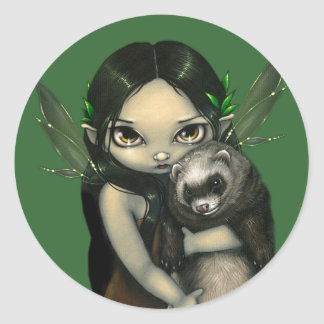 """A Ferret and His Fairy"" Sticker"