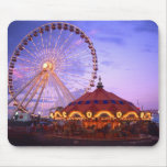 A ferris wheel and carousel at the Navy Pier in Mouse Pad