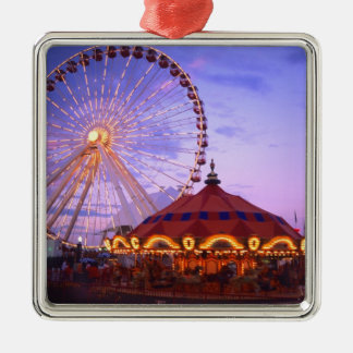 A ferris wheel and carousel at the Navy Pier in Christmas Tree Ornaments
